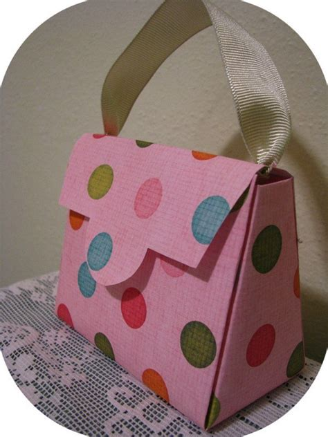 Handbag Gift Box Template by Purse Gift Box And Favor Pattern Template And