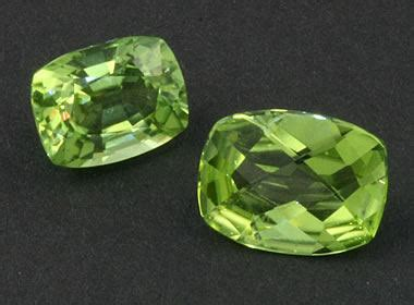 olivine: a rock forming mineral. used as the gemstone peridot.