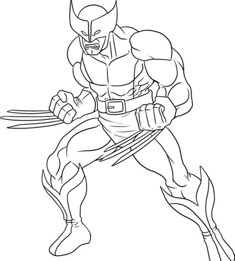 Wolverine Coloring Pages Free free printable wolverine coloring pages for