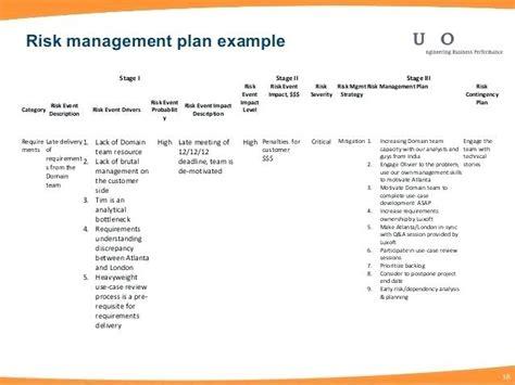 pmbok risk management plan template project risk management plan figure 3 risk management