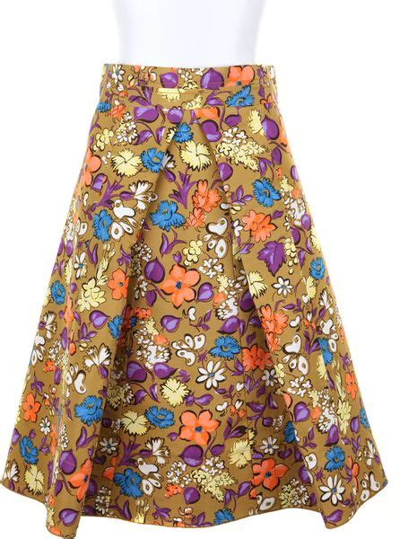 pattern review origami skirt marc jacobs origami a skirt in silk with floral pattern in