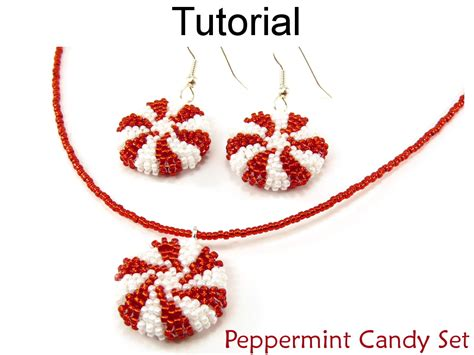 pattern for beaded christmas earrings beading tutorial pattern earrings necklace holiday