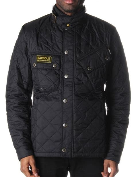 Mens Quilted Black Jacket by Barbour Tankerville S Quilted Jacket Black