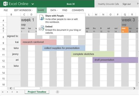 free project timeline template for excel