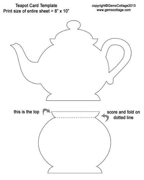 Teapot Card Template by Gem S Cottage 194 187 Archive 187 Paper Pierced Teapot