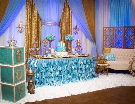 "King / Birthday ""Gold and blue Royal baby shower""   Catch My Party"