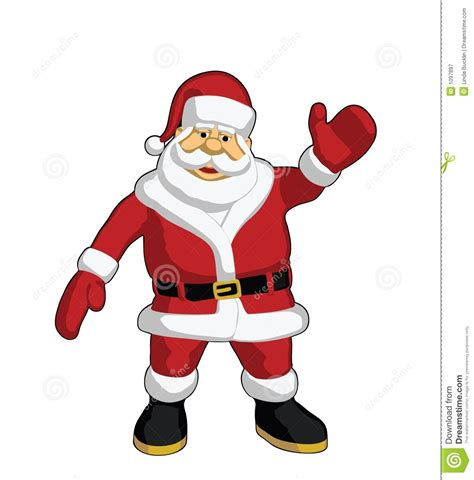 santa claus waving royalty free stock photography image
