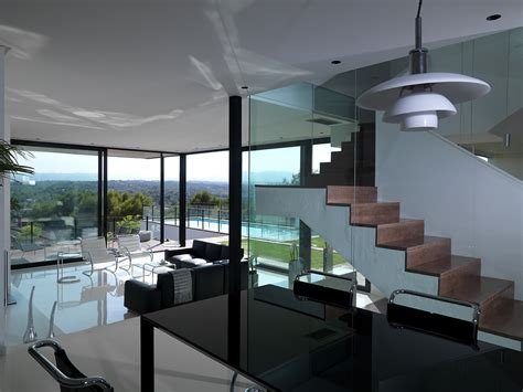 a fusion of black white ultra modern house is a