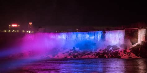 niagara falls lights niagara falls lights get a dazzling 4m makeover