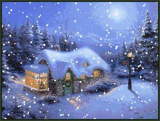 coleccion de gifs paisajes navidenos