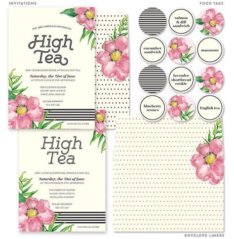 invitation to tea card set cupcake wraps tea parties and envelopes