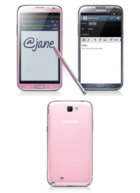 samsung gets mushy for valentine s day with pink galaxy note 2
