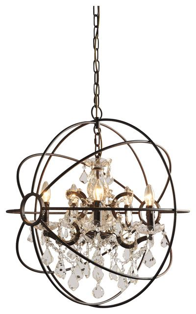 contemporary chandeliers and pendants iron globe pendant with accents contemporary