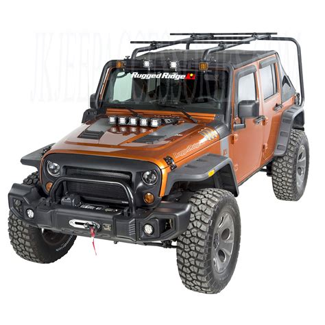 Sherpa Roof Rack System by Sherpa Roof Rack Kit 07 15 Jeep Wrangler Unlimited Jk 4 Door