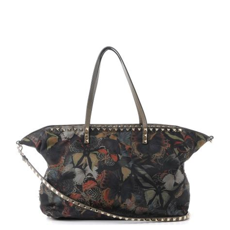 Chopard Borsa Butterfly Purse by Valentino Camo Butterfly Rockstud Tote Multicolor 244889