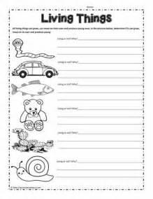 living things worksheet worksheets