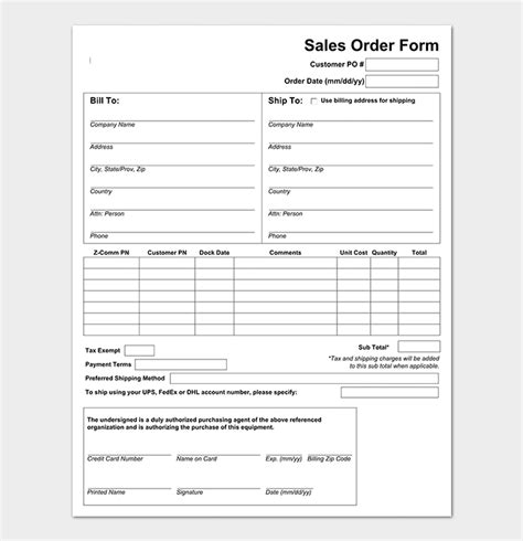 Sales Order Template 22 Formats Exles Word Excel Pdf Sales Form Template Excel