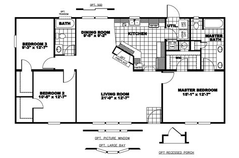 manufactured home floor plan 2008 clayton gaston manor