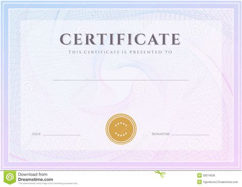 Diploma Certificate Template by Award Certificate Template Choice Image