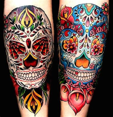 day of the dead skull tattoo 166 best day of the dead tattoos