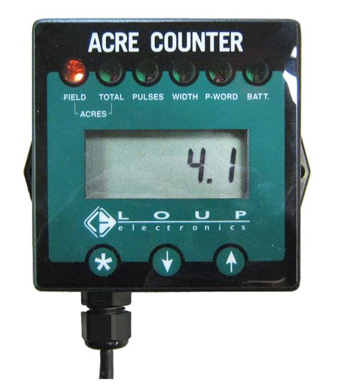 loup acre counter accumulated acres battery powered
