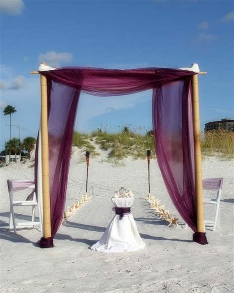 Wedding Arch With Drapes by Suncoast Weddings Present Eggplant Chiffon Drapes On Our