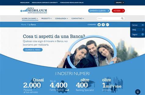 accesso banca mediolanum pubblicomnow la nuova release sito banca mediolanum