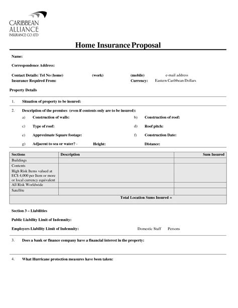 insurance policy template home insurance quotes templates quotesgram