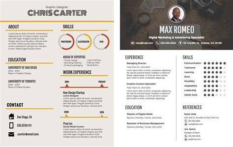 Cv Resume Example by The Top 9 Infographic Template Types Venngage