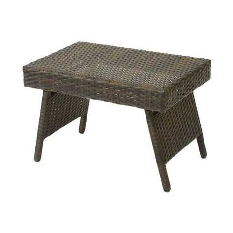 Wicker Patio Tables Shop Best Selling Home Decor Wicker Rectangle Patio Coffee Table At Lowes