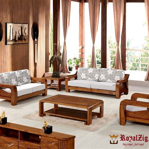 Sofa Set Made Of Wood by Teak Wood Classic Sofa Set