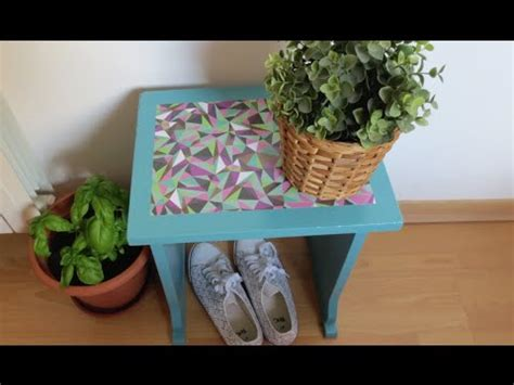 chalk paint y decoupage restaura un taburete con chalk paint y decoupage