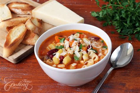 Easy Cold Pasta Salad minestrone soup home cooking adventure