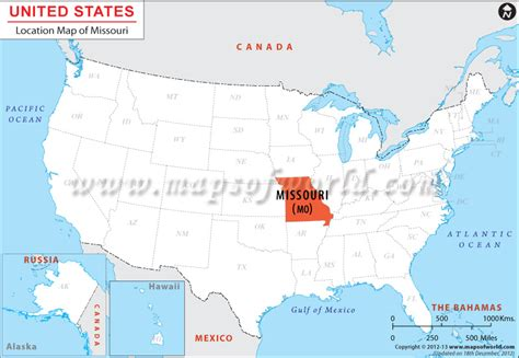 map of missouri usa where is missouri located location map of missouri