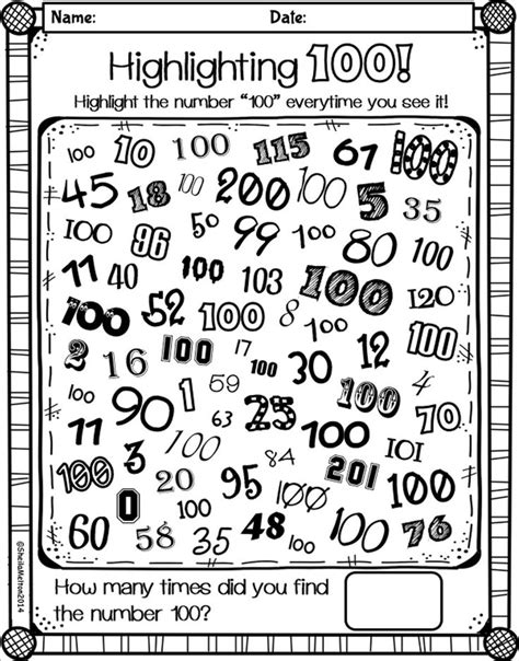 printable games for school 100 day worksheets resultinfos