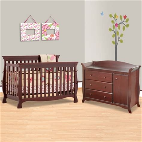 storkcraft cherry carrara 4 in 1 convertible crib and