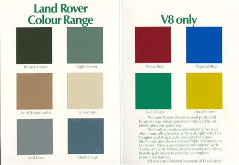 classic colours for landrovers search bits and bobs land rovers