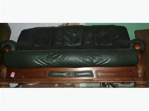 dark green leather sofa dark green leather sofa ref a0603 brierley hill dudley