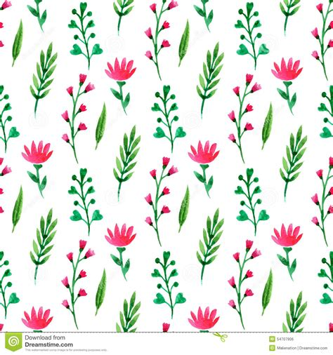 cute handpainted pattern cute floral seamless pattern summer flowers branches and