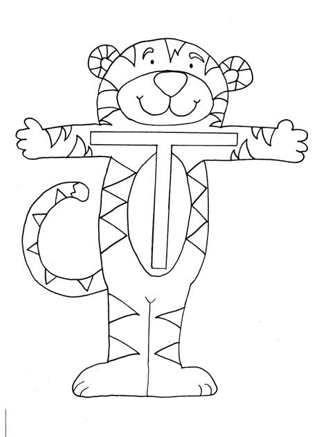 coloring page of letter t letter t coloring pages coloring home