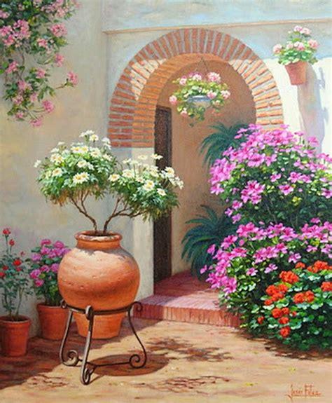 imagenes alegres grandes im 225 genes arte pinturas paisaje con flores alegres para pintar