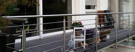 terrassengeländer edelstahl terrassengel 228 nder aus edelstahl nappenfeld edelstahl