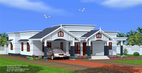 single floor house plans kerala style bedroom single floor home design by green homes thiruvalla kerala