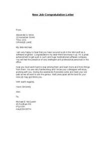 Business Letter Template Congratulations New Position new job congratulation letter hashdoc