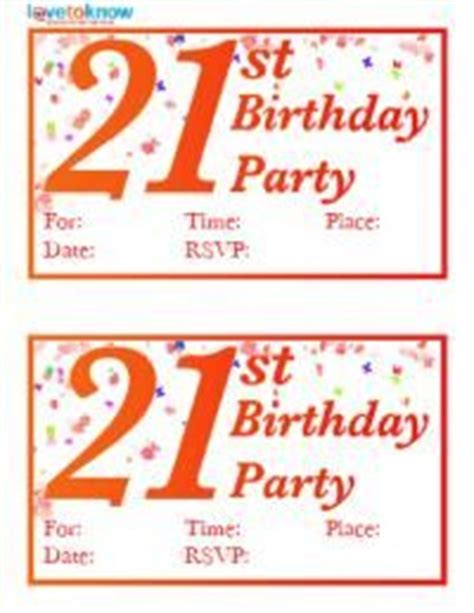 free 21st birthday invitations templates 1000 images about printables on 21st birthday