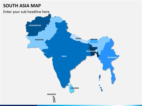 map of south asia south asia map powerpoint sketchbubble