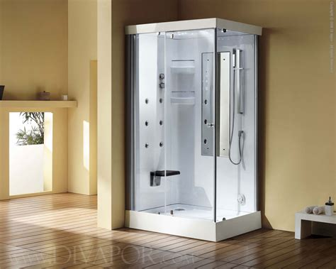 Shower Cabinet by Venice Glass Steam Shower Cabinet White