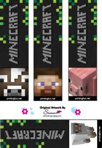 minecraft bookmark template bookmarks minecraft bookmarks free printable ideas