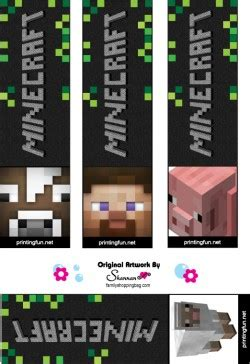 bookmarks minecraft bookmarks  printable ideas