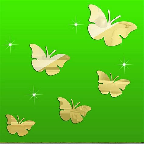 2016 real new arrival sale home decoration modern acrylic butterfly mirror wall sticker stickers